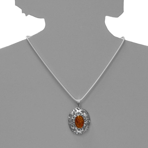 Ostsee-Schmuck - 001 200006 0002 - Pendentif Femme - Argent 925/1000 - Ambre
