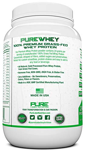 Natural whey protein without additives