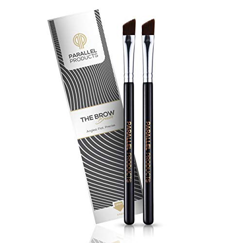 [NEW] PARALLEL PRODUCTS - THE BROW Brush - (2 Pack) Premium Angled Eyebrow Brush for powder, cream, gel and wax