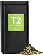 T2 Tea Gorgeous Geisha Loose Leaf Green Tea in Tea Caddy 250 g, 1 x 250 g