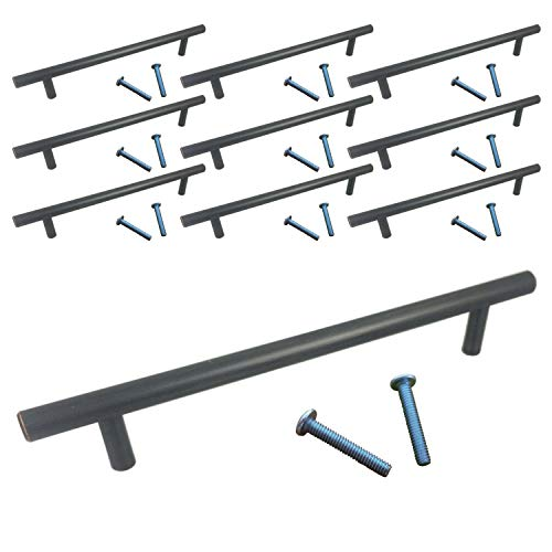 (Swiss Kelly Oil Rubbed Bronze Bar Pull Kitchen Hardware Cabinet Drawer Handle (10 Pack, L: 8