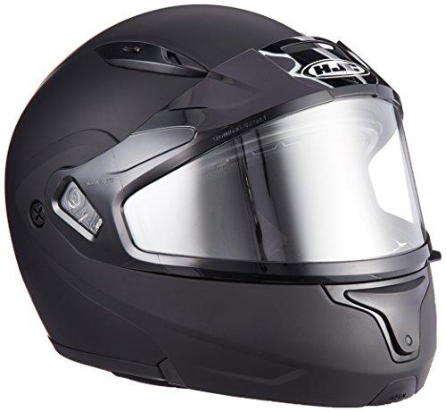 HJC CL-MAX2BTSN Modular Bluetooth Snow Helmet Framed Dual Lens Shield (Matte Black, X-Large) ()