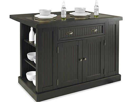 - Home Styles  Nantucket Kitchen Island, Distressed Black Finish