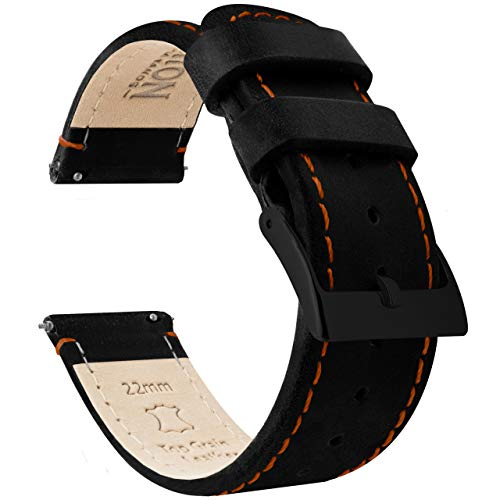 Orange Leather Strap - 2