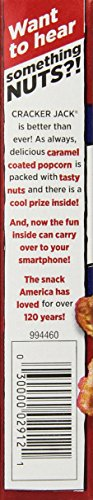Cracker Jack Original Singles, 1 Ounce (Pack of 25) 6 Pack of twenty five, 1 ounce each (total of twenty five ounces) Caramel-coated popcorn and peanuts Each pack has a surprise inside