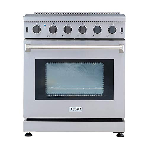 Thor Kitchen 30 Inch,5 Burners, 1 Oven Freestanding or Built-in Gas Range Stainless Steel