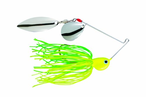 Strike King Potbelly Spinner Bait (Limetrueuse.375-Ounce) Colorado Willow Blades