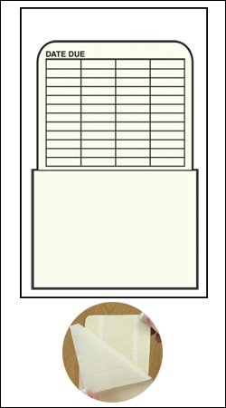 Self Adhesive Book Pockets - Book Processing - Date Grid - 5-1/4'' H x 3-1/2'' W x 2-1/2'' D - 100pk by The Library Store (Image #3)