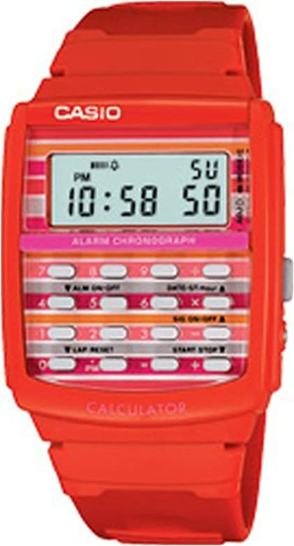Casio calculator watch retro red vinage depop.