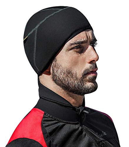 Santic Cycling Skull Cap Helmet Liner Bicycle Hat Thermal Fleece Windproof (Mens Running Winter Hat)