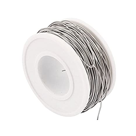 eDealMax Nichrome 80 0, 5 mm 24 Gauge AWG 35m Rollo 5, 755 Ohm/m Calentador Wire: Amazon.com: Industrial & Scientific