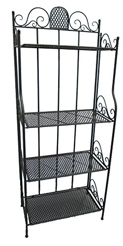Provence M0384 Etagere Four Shelf Rack, 26-Inch Wide by 66-Inch High, Black by Provence