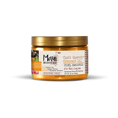 - Maui Moisture Quench + Coconut Oil Curl Smoothie, 12 Ounce