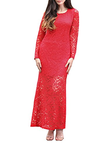 Wicky LS - Vestido - para mujer Style 1 Red S