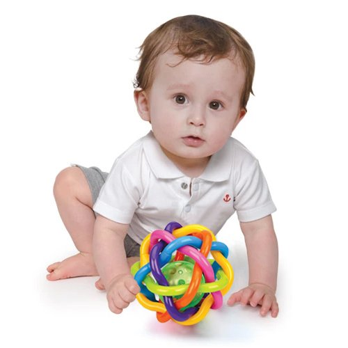 Ball Toys For Toddlers : Baby rattle musical and sensory teether activity colorful