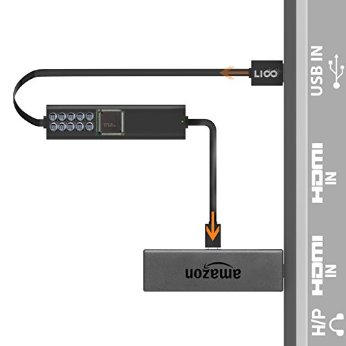 USB Fire TV Stick Power Cable, Liootech Fire Short Cable to TV USB Port Compatible with Amazon Fire TV, Roku Streaming Stick, Chrome Stick and Other Streaming Media Player by Liootech