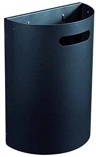 Rossignol Arkea robuster und abnehmbarer Abfallkorb 20 Liter zur Wandmontage, Farbe:Anthrazitgrau matt