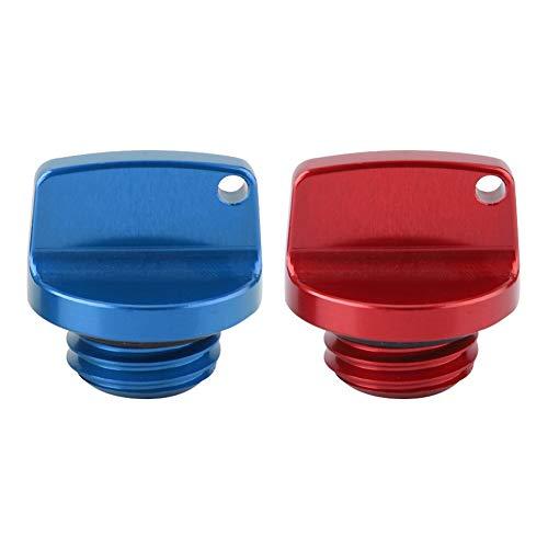 - Qii lu 2Pcs CNC Aluminum Oil Filler Caps Plugs Covers for Honda CRF150R CB250F Yamaha Kawasaki Suzuki (Red&Blue)