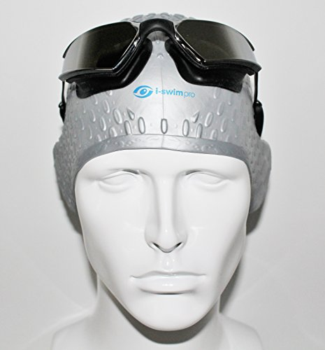 i-Swim Pro Silicone Swim Caps For Adults – Long Hair - Comfortable Fit – Swim Cap Set Includes Nose Clip And Ear Plugs