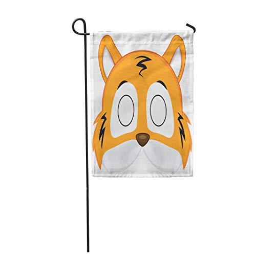 Semtomn Garden Flag Animal Cartoon Tiger Mask for Children Masquerade Pattern Costume 28