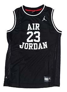 Nike Air Jordan Boys Classic Jersey Shirt Black Medium 10 ...
