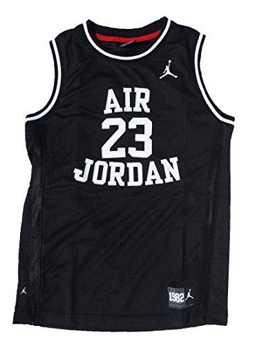 (Nike Air Jordan Boys Classic Jersey Shirt Black Medium)