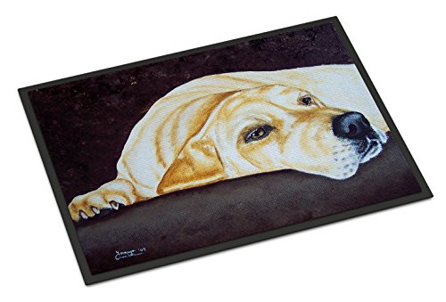 - Caroline's Treasures AMB1072JMAT Naptime Yellow Labrador Indoor or Outdoor Mat, 24