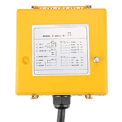 Crane Chain Hoist Push Button Switch 1 Transmitters + 1 Receiver Hoist Crane Wireless Remote Controller 12 Buttons by Wal front (Image #5)