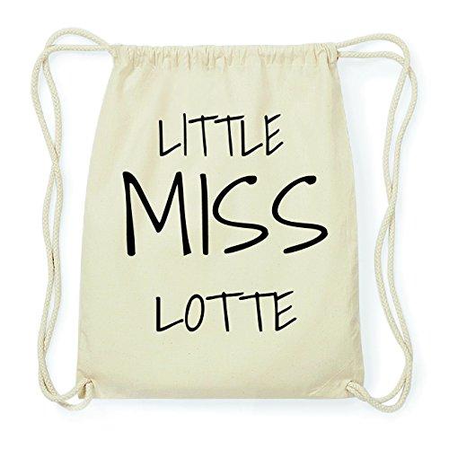 JOllify LOTTE Hipster Turnbeutel Tasche Rucksack aus Baumwolle - Farbe: natur Design: Little Miss GeR6oer