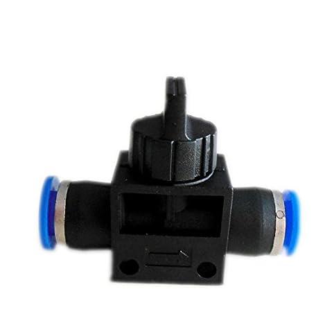 6 Pneumatic Ball Valve Push in fittings Connectors Air Water Hose Tube (4mm tube) MEC