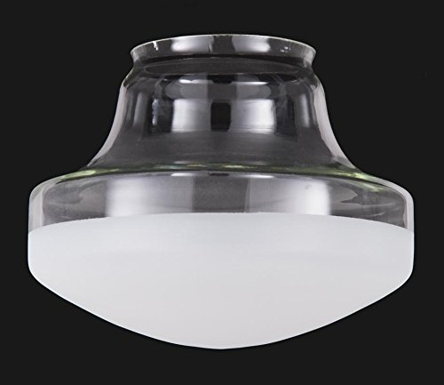 B&P Lamp Special Half-Frost Industrial Style Pendant Shade (12'') by B&P Lamp