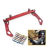 Heinmo For YAMAHA XMAX Cross Bar Fork Balance Bar X MAX125 250 300 400 NMAX 125/155 SMAX 155 Fork Brackets (red)