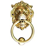"""StonKraft Brass Lion Door Knocker Knockers Gate Knocker Door Accessories (Lion 5"""")"""