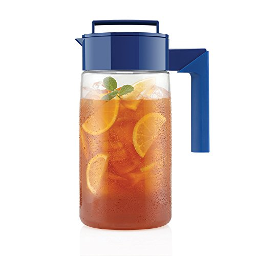 Takeya Iced Tea Maker with Patented Flash Chill Technology Made in USA, 1 Quart, Blueberry