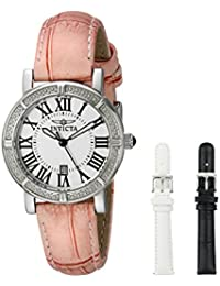 Women's 13967 Wildflower Stainless Steel Watch with Interchangable Straps