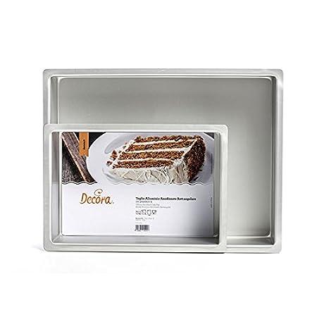 Silber Aluminium eloxiert Draht 20/x 30/x 7,5/cm Decora Professional Bakeware rechteckig