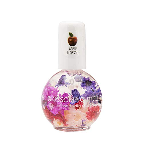 Blossom Scented Cuticle Oil (0.42 oz) infused with REAL flowers - made in USA (Apple Blossom)