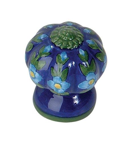 - Atlas Homewares 1A100 1-3/4-Inch Blue/Green Fluted Ceramic Knob, Blue