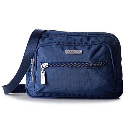 Baggallini Triple Zip Crossbody Organizer Bag (Pacific Navy)