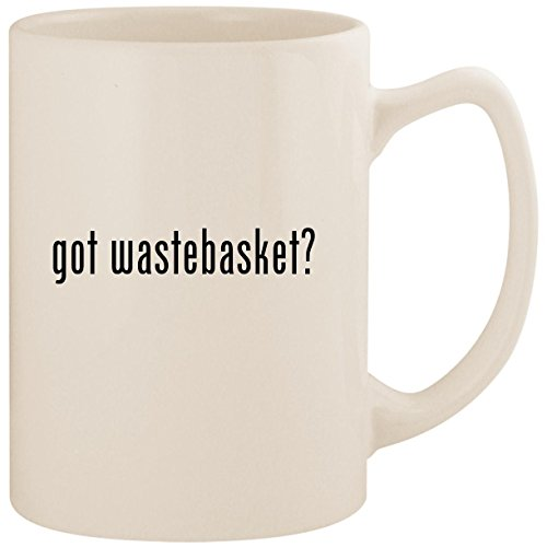 - got wastebasket? - White 14oz Ceramic Statesman Coffee Mug Cup