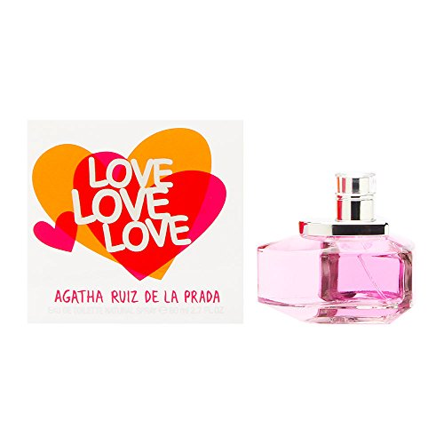 Agatha Ruiz De La Prada Love Eau de Toilette Spray, 2.7 Ounce