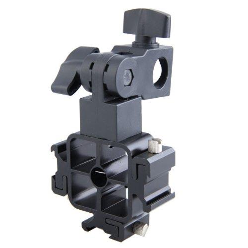 Three-Hot Shoe Mount Adapter for Flash Holder Bracket and Canon Speedlite