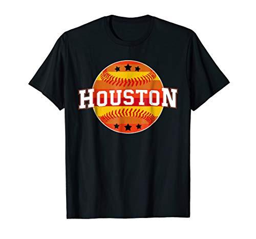 738a9d531ec0b5 Houston Baseball Throwback Retro Astro Stripe 2018 T-Shirt