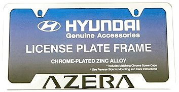 HYUNDAI Genuine Accessories 00402-31920 Chrome License Plate Frame Azera Genuine Hyundai Accessories
