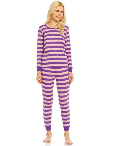 - Leveret Organic Cotton Purple/Pink Women 2 Piece Pajama Set Small