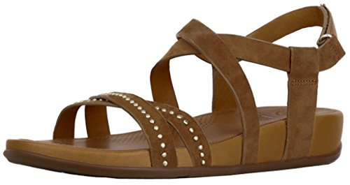 - FitFlop Womens Lumy Criss Cross Suede with Studs Sandal Shoes, Tan, US 5