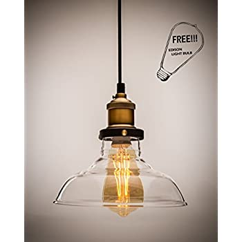 lucia lighting pendant ceiling light midcentury vintage industrial bronze pendant design with clear glass shade masterpiece lighting bulb