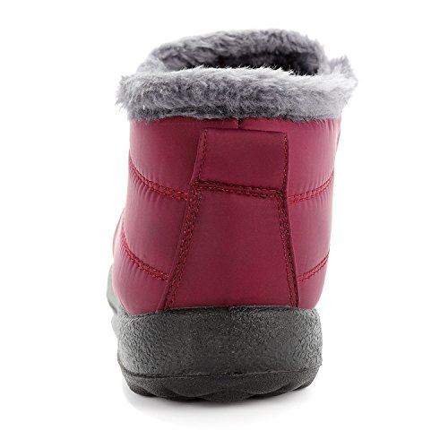 Slip Waterproof Anti Boots Winered Outdoor Shoe Warm Snow Winter Slip Proof Boots Women Cattle Shop Snow AxtB44