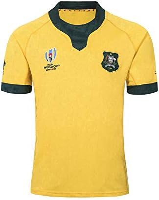 Esentia Jersey De Rugby De 2019 Copa Mundial De Australia, Deportes De Verano Camiseta Transpirable Camisa Casual Camiseta De Fútbol Camisa De Polo,Amarillo,S: Amazon.es: Hogar