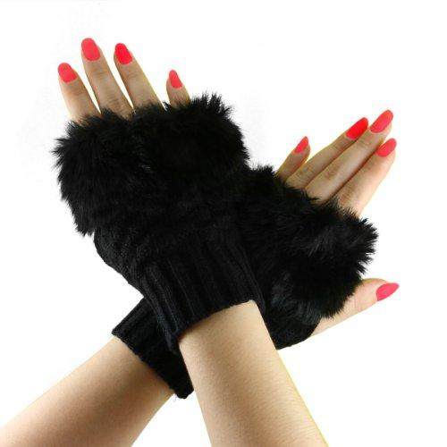 Winter Knitted Fingerless Gloves Mitten